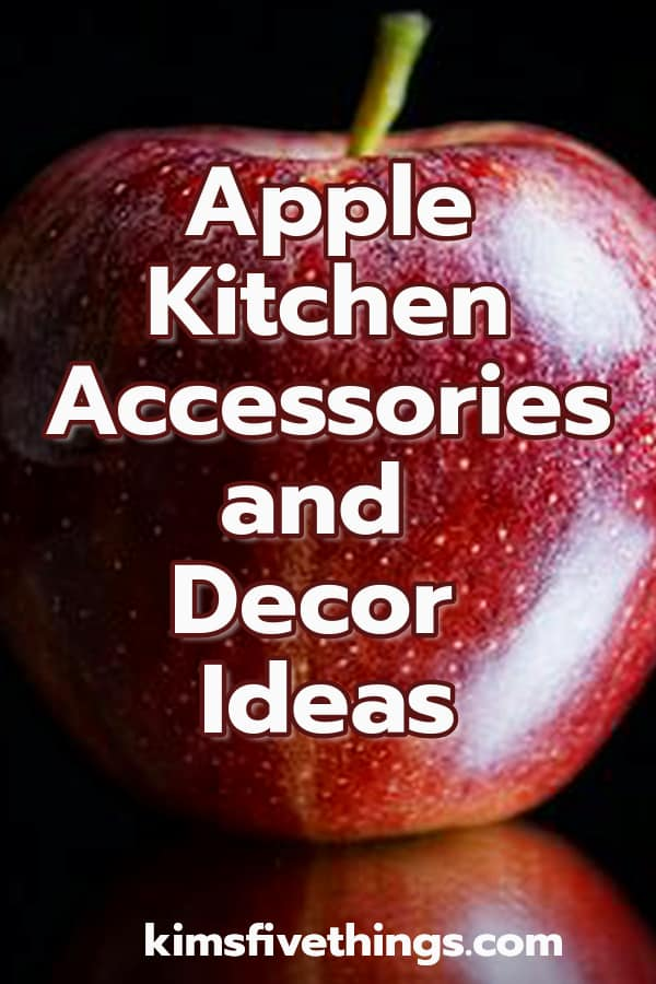red and green apple kitchen accessories