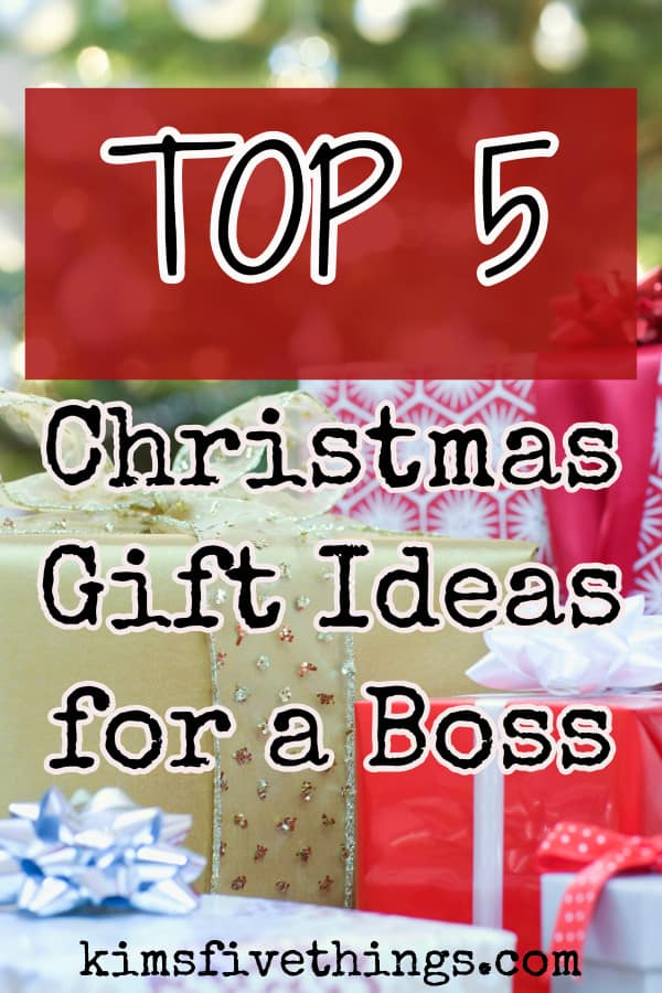 top 5 christmas gifts for a male or female boss
