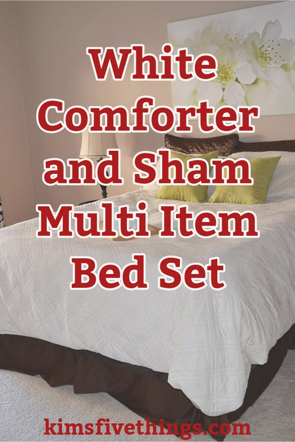 white comforter and sham multi item bedding set