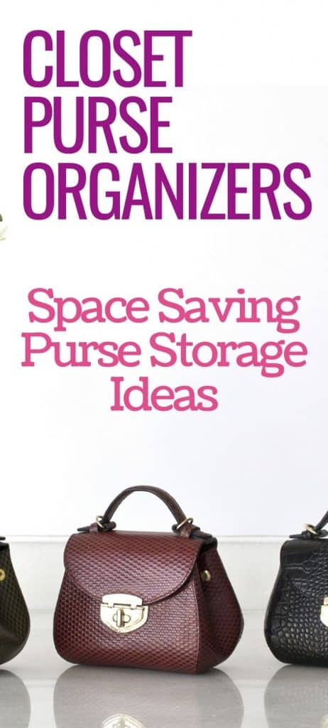 closet purse organizers how to space saving purse storage ideas