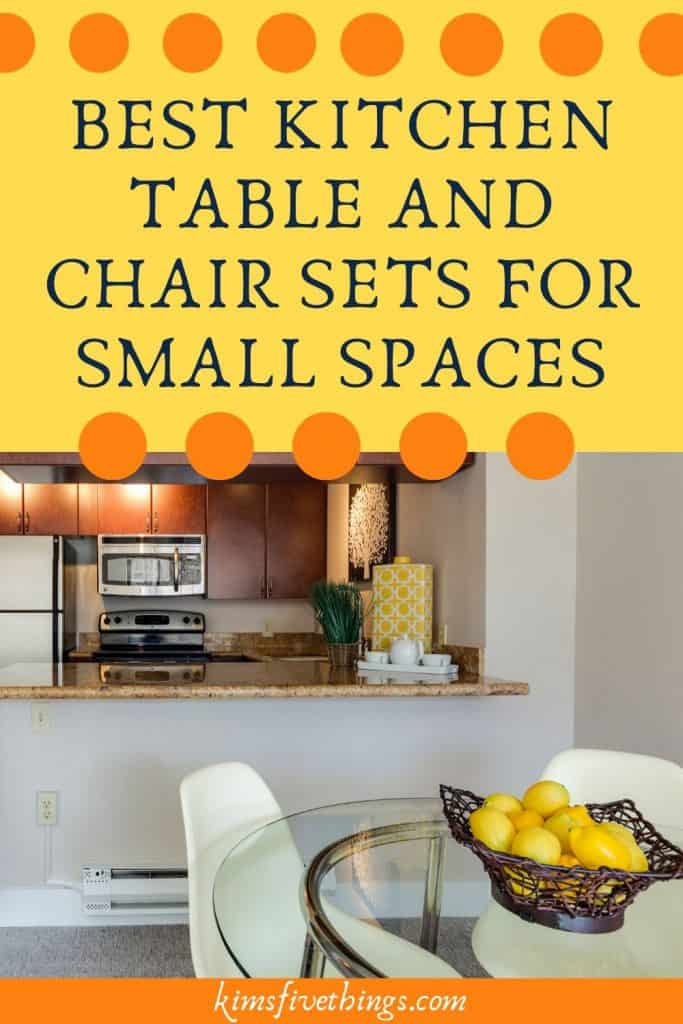 best kitchen table and chair sets for small spaces