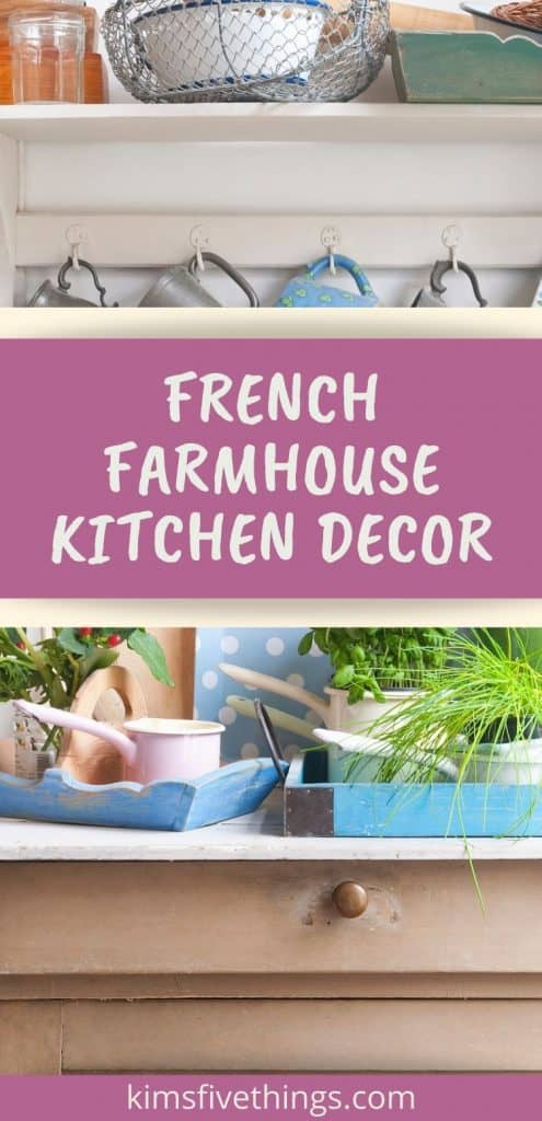 French farmhouse kitchen accessories and decor items