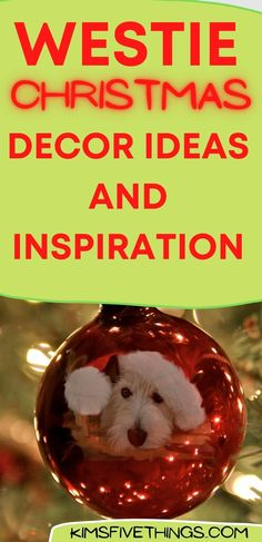 Westie Christmas ornaments and decor